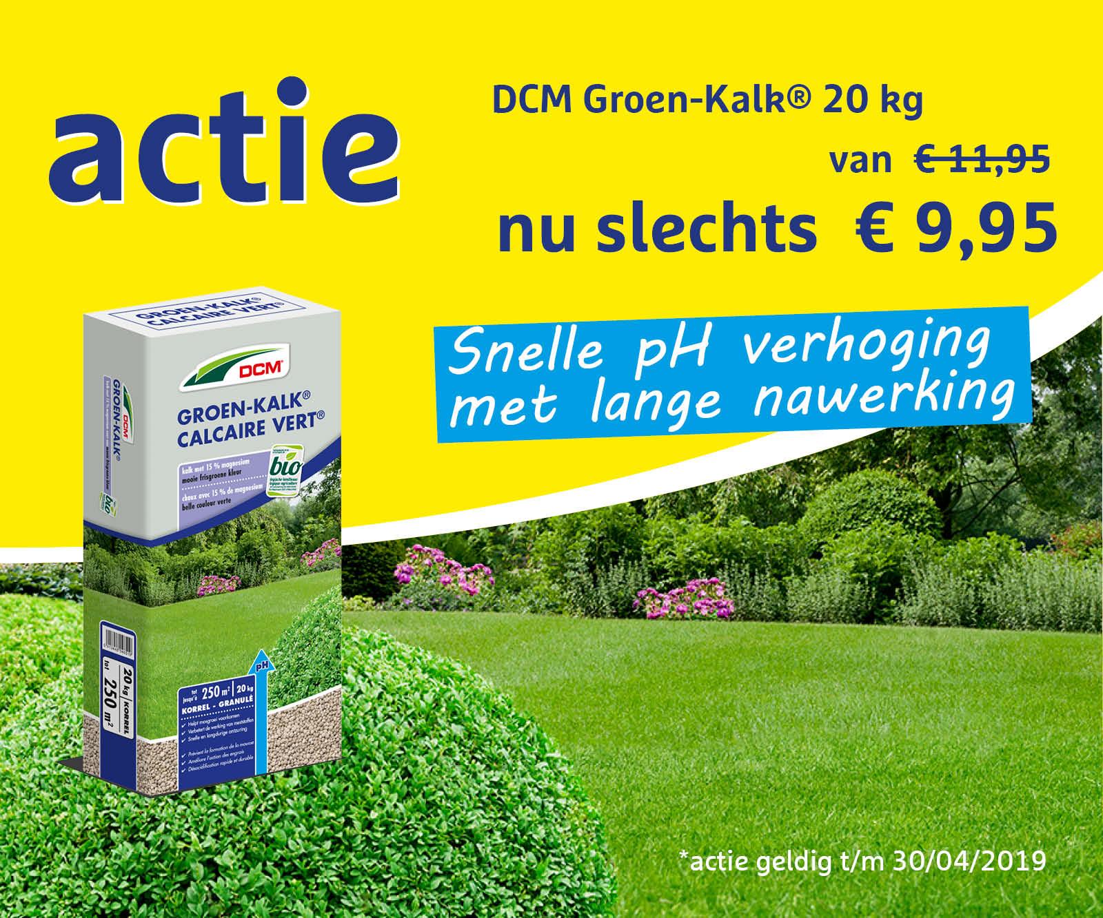 Actie Groen-Kalk 20 kg
