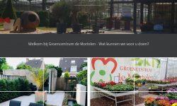 Nieuwe website met de entree van Groencentrum de Mortelen Best