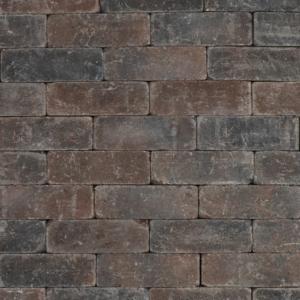 Metro Trommelsteen 21x7x7 cm Bruin-zwart