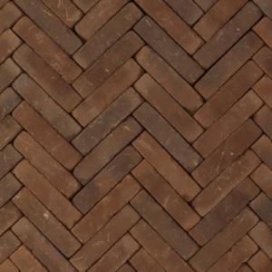 Rustiek waalformaat 20x5x6 cm Liers Rood-bruin-zwart bont