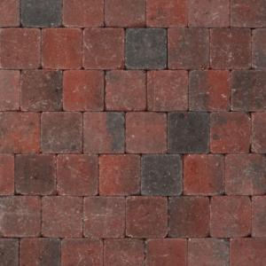 Tambour 10x10x6 cm Rood-zwart