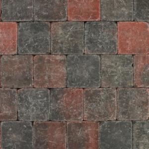 Tambour 20x20x6 cm Rood-zwart