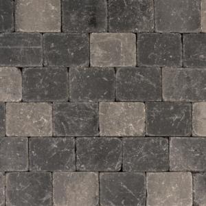 Metro Trommelsteen 20x15x6 cm Grijs-zwart
