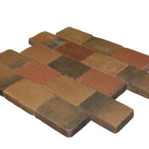 Metro trommelsteen 30x20x6 cm Brons genuanceerd