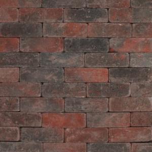 Tambour 21x7x7 cm Rood-zwart